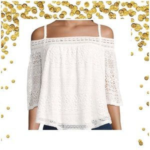 e3f0d308a7dee jcpenney Tops - Lace Off the Shoulder Top white or choose olive